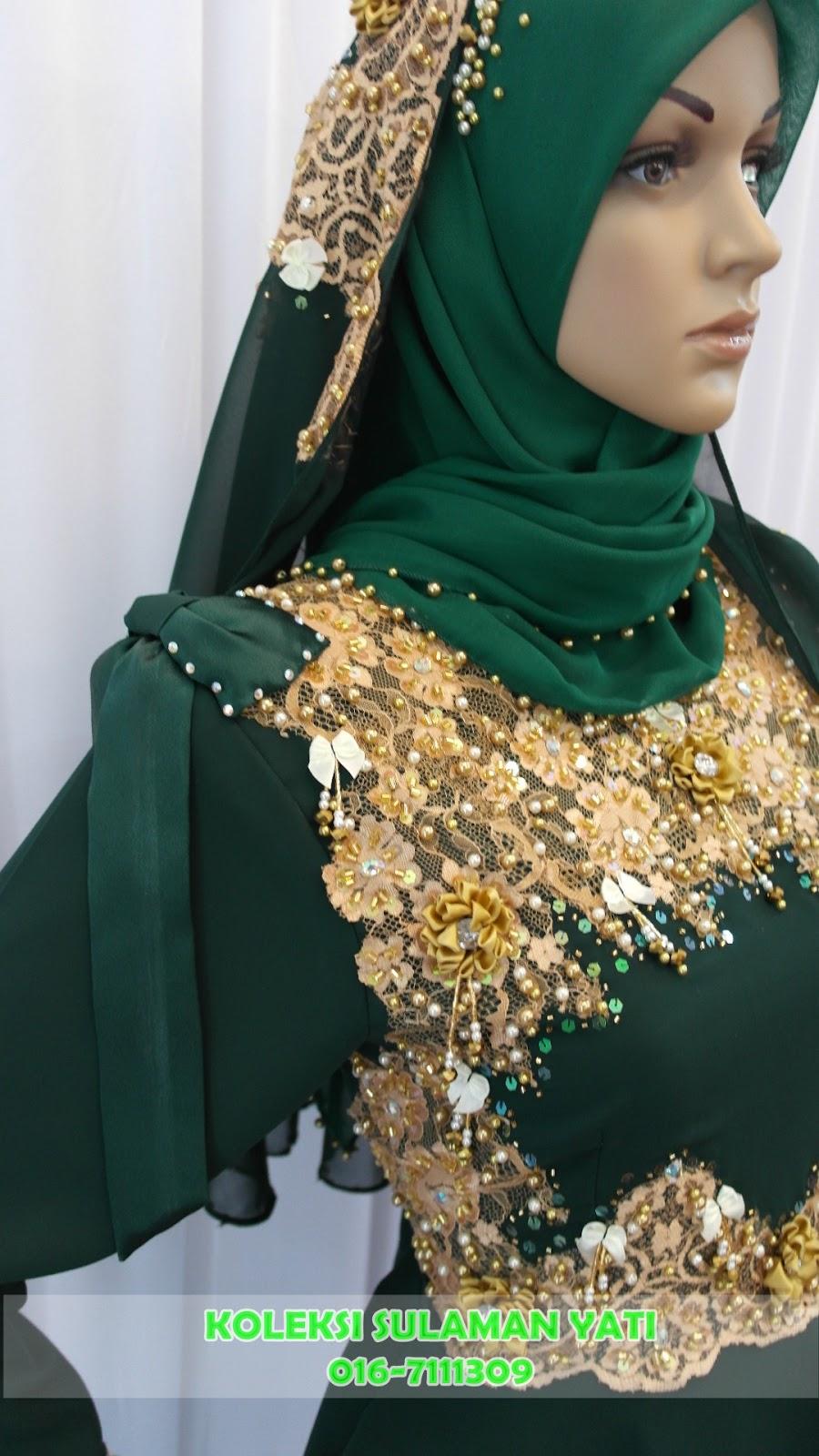 Baju Pengantin Hijau Zamrud