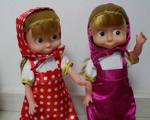Gambar Boneka Masha and The Bear Lucu Funny Dolls for Kids