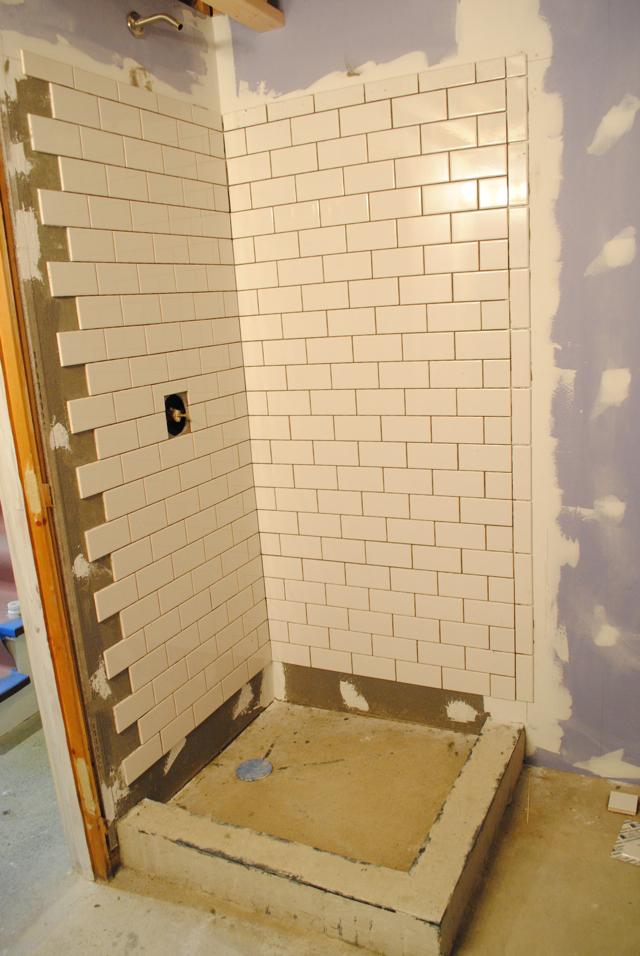 Tiled Shower Edge the little dog blog: bathroom remodel part 3: tiling a shower