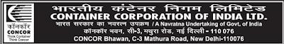 CONCOR Recruitment 2015-185 Senior Assistant concorindia.com