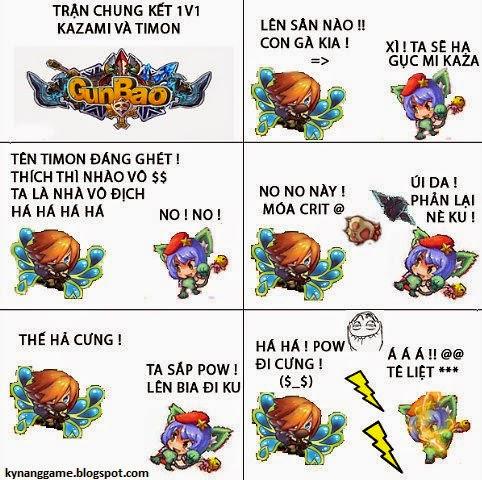 Trận đấu giữa Timon và Kazami gunbao