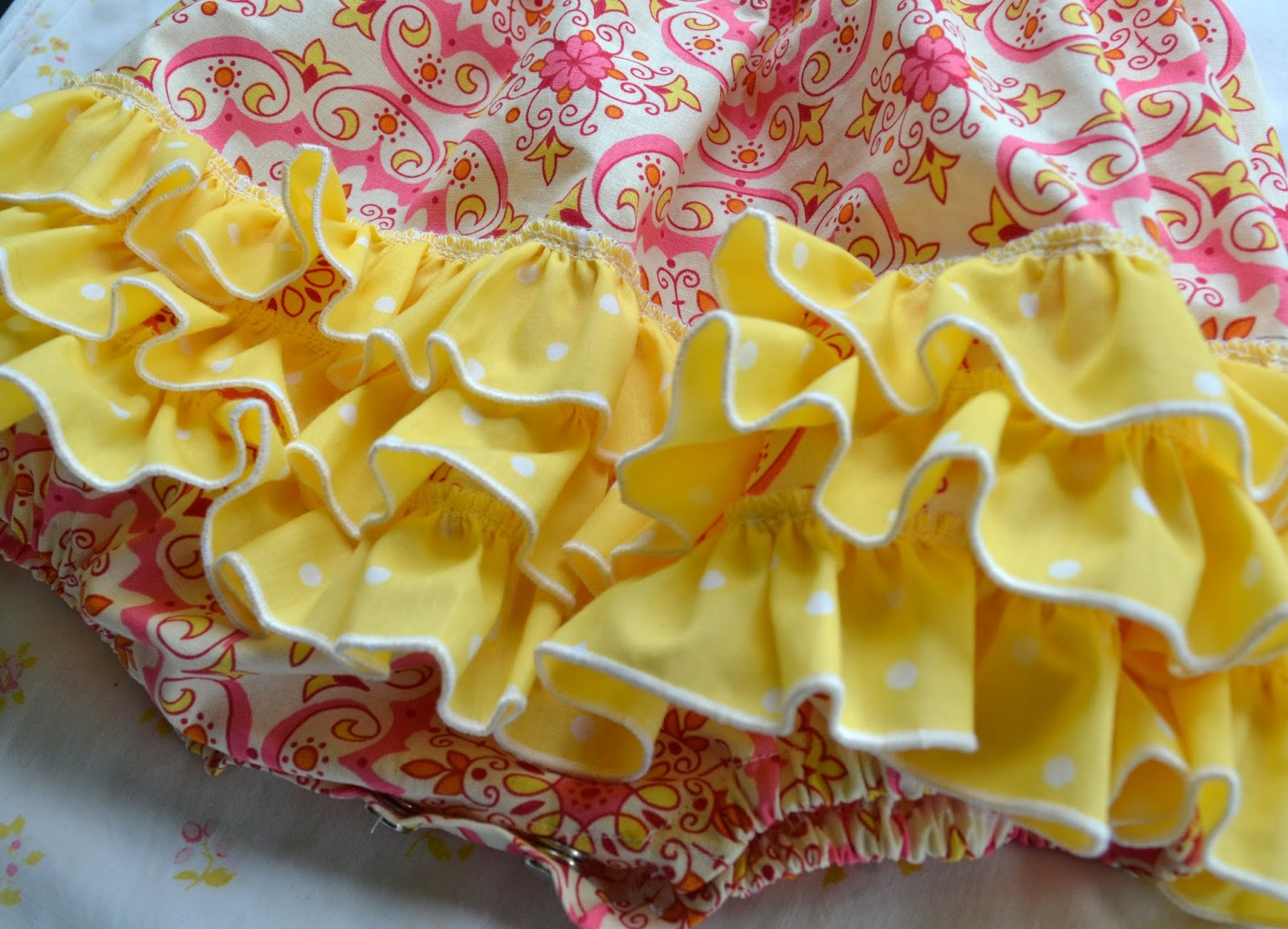 yellow ruffle
