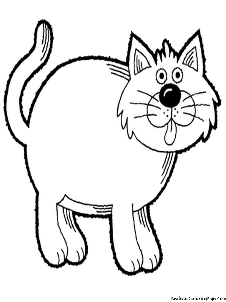Realistic Coloring Pages Of Cats Realistic Coloring Pages