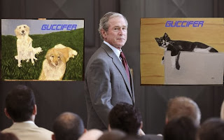 George w bush dog paintings