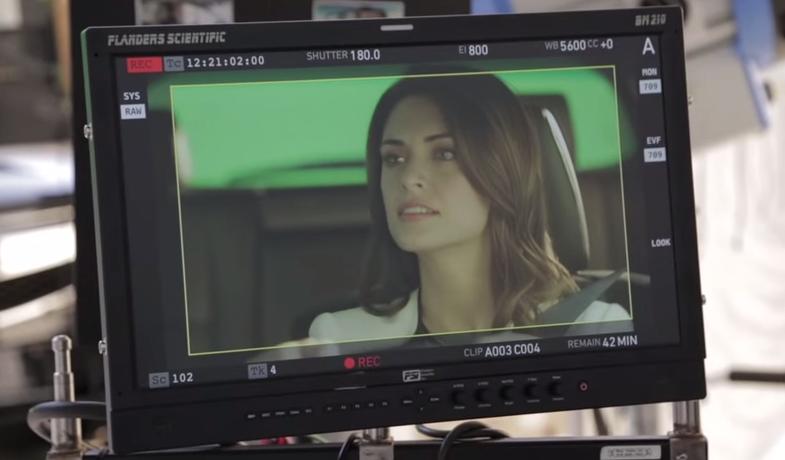lovely brunette on viagra commercial
