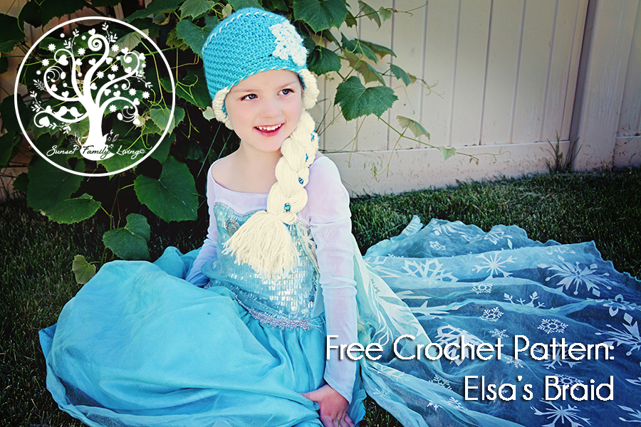 Crochet Hat Pattern For Elsa : 11. Elsas Big Side Braid Tutorial