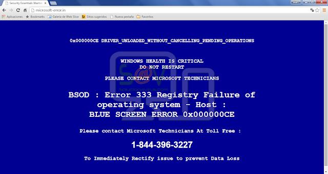 Microsoft-error.in pop-ups (Support Scam)