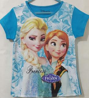 Baju Anak Karakter frozen Ungu Size 7 - 10 Y