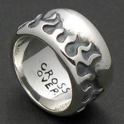 Crossover Designs - FLAME SCALE RING