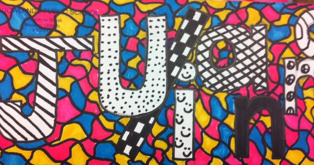 Line Drawing Artists Names : Artisan des arts grade line art using names sharpies