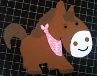 paper shaped horse from Hobby Lobby made into a paper piecing for scrapbooking or craft