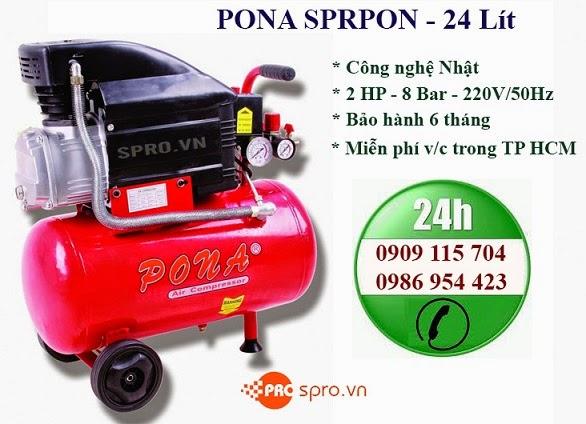 Máy nén khí Mini 2HP PONA Dung tích 24L