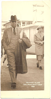 1939 photograph of Treasure Island near San Francisco and unidentified man possibly Ulysses Grant nicknamed Bob