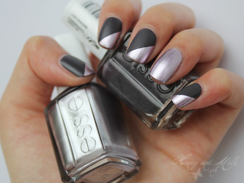 Honey and milk smokin metals nageldesign mit essie for Nageldesign matt