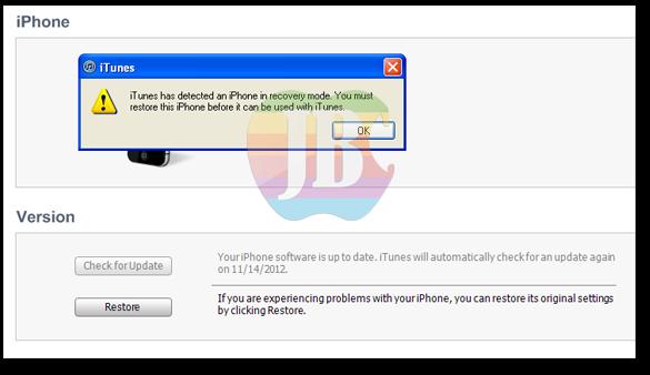 Sekarang tutup Sn0wbreeze kemudian buka iTunes, maka iDevice anda akan ...