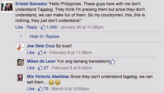 The popular translation comment in Facebook.