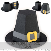 This tutorial is for assembly of the 3D pilgrim hat box die cut that can be .