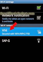 Samsung Galaxy Ace - Koneksi ke Jaringan Wi-Fi