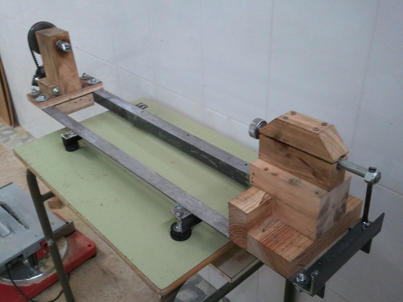 Torno casero para madera