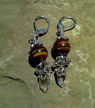 White Topaz and Tiger Eye