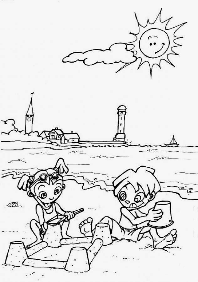 COLOREA TUS DIBUJOS: Dibujos de playa para colorear