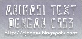 Animasi Text dengan CSS3