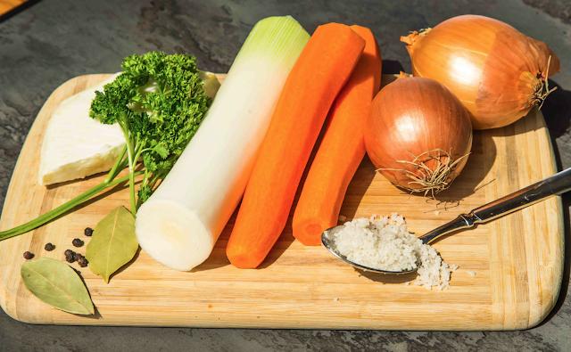 Gemüsebrühe einzelne Zutaten
