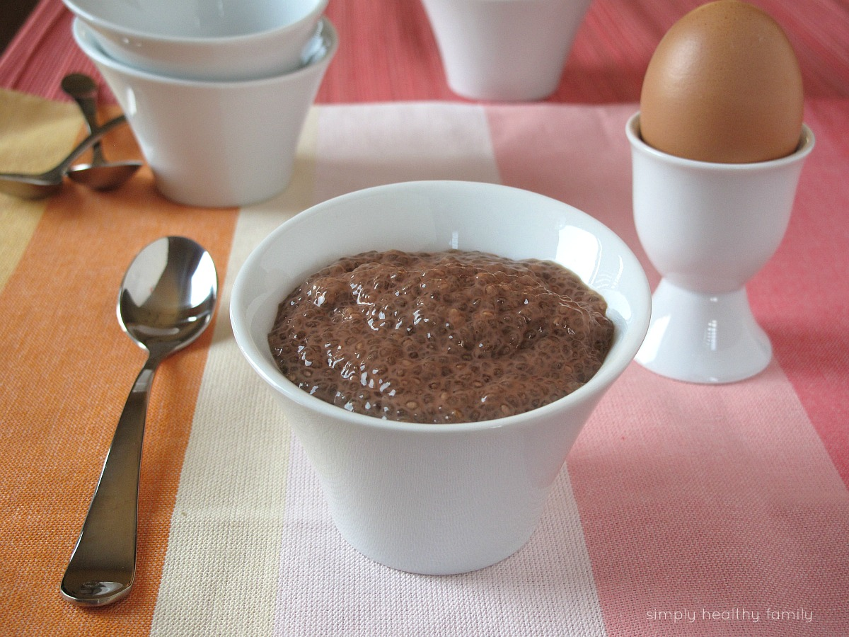 Simply Healthy Family: Chocolate Hazelnut Chia Seed Pudding