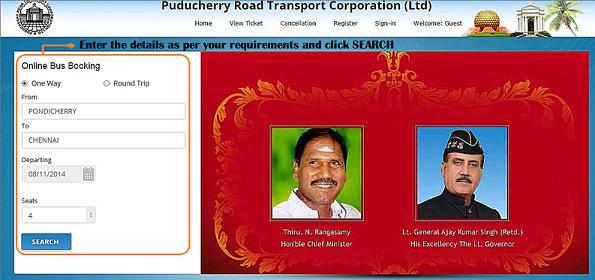 prtc online booking