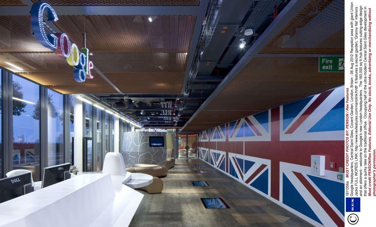 Keadaan Lobi Utama Google Hq Reception Area