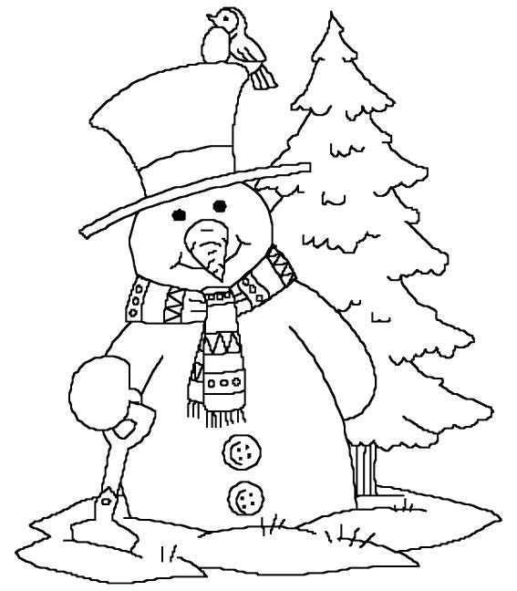 Kids Under 7 Snowman Coloring pages for kids