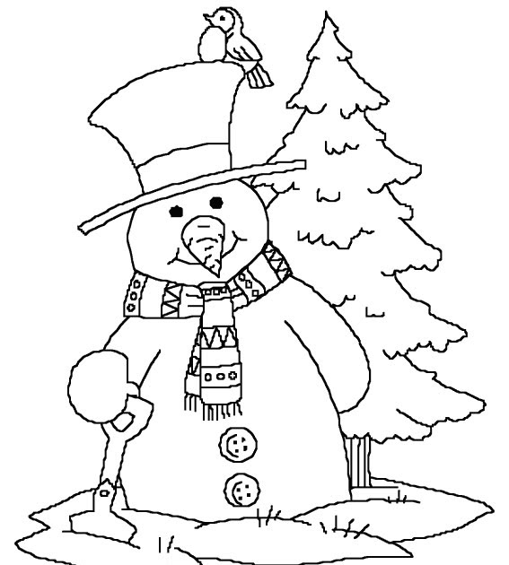 kids under 7 snowman coloring pages for kids color hd
