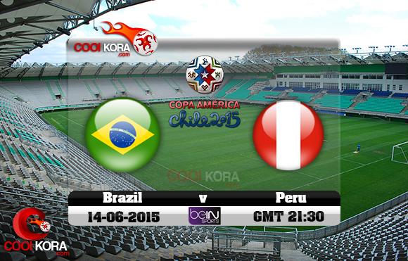 مباراة البرازيل و بيرو