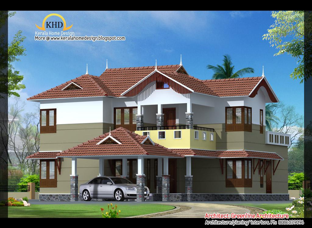 2 beautiful villa elevations kerala home design and for Villa front elevation photos kerala