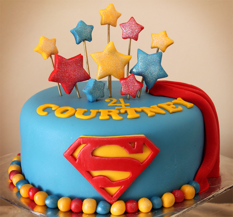 Cake Images Superman : Delana s Cakes: Girly Superman Cake