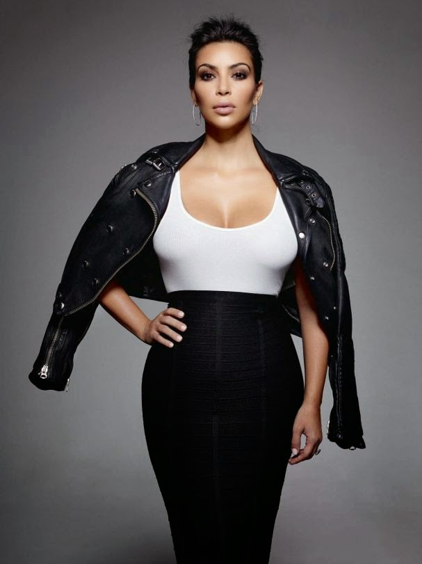 Kim Kardashian Elle Uk Magazine Photoshoot January 2015