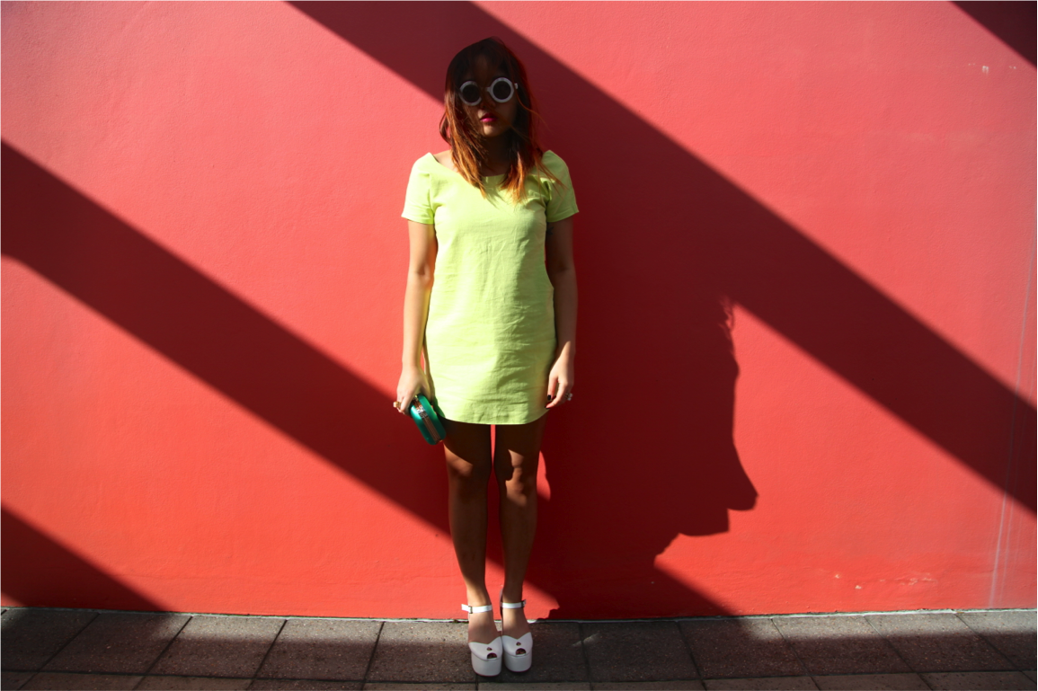 lime green neon summer mini dress on epique