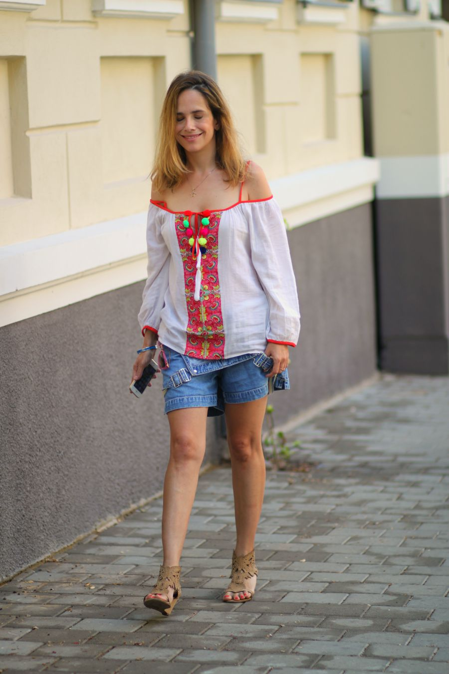 optimist, wear, dungaree, coldshoulder, crisophesauvat, denim, ootd, lookoftheday, fashionblog, summer2015, streetstylejuly2015, אופנה, בלוגאופנה