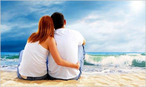 Amor ou sexo estabilidade ou paixão casal apaixonado na praia