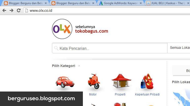 Situs Jual Beli Online OLX (sebelumnya Toko Bagus)