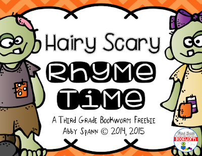 https://www.teacherspayteachers.com/Product/Hairy-Scary-Rhyme-Time-FREEBIE-2157136
