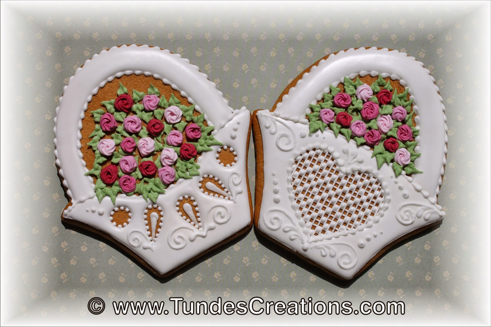 Rose basket cookie by Tunde Dugantsi