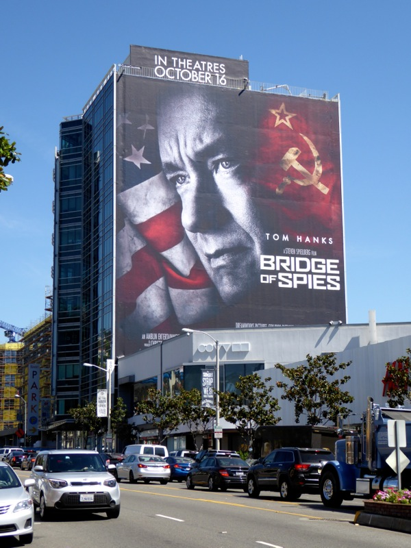 Giant Bridge of Spies movie billboard