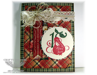 Crafty Colonel Donna Nuce for Cards in Envy Challenge blog, Graphic45 12 days of Christmas, Card