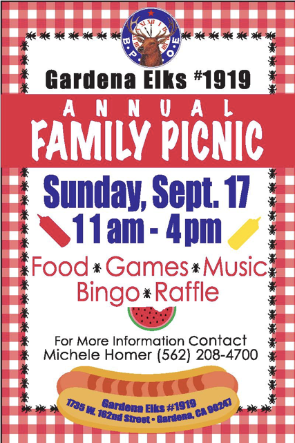 Annual Family Picnic - Sept 17th