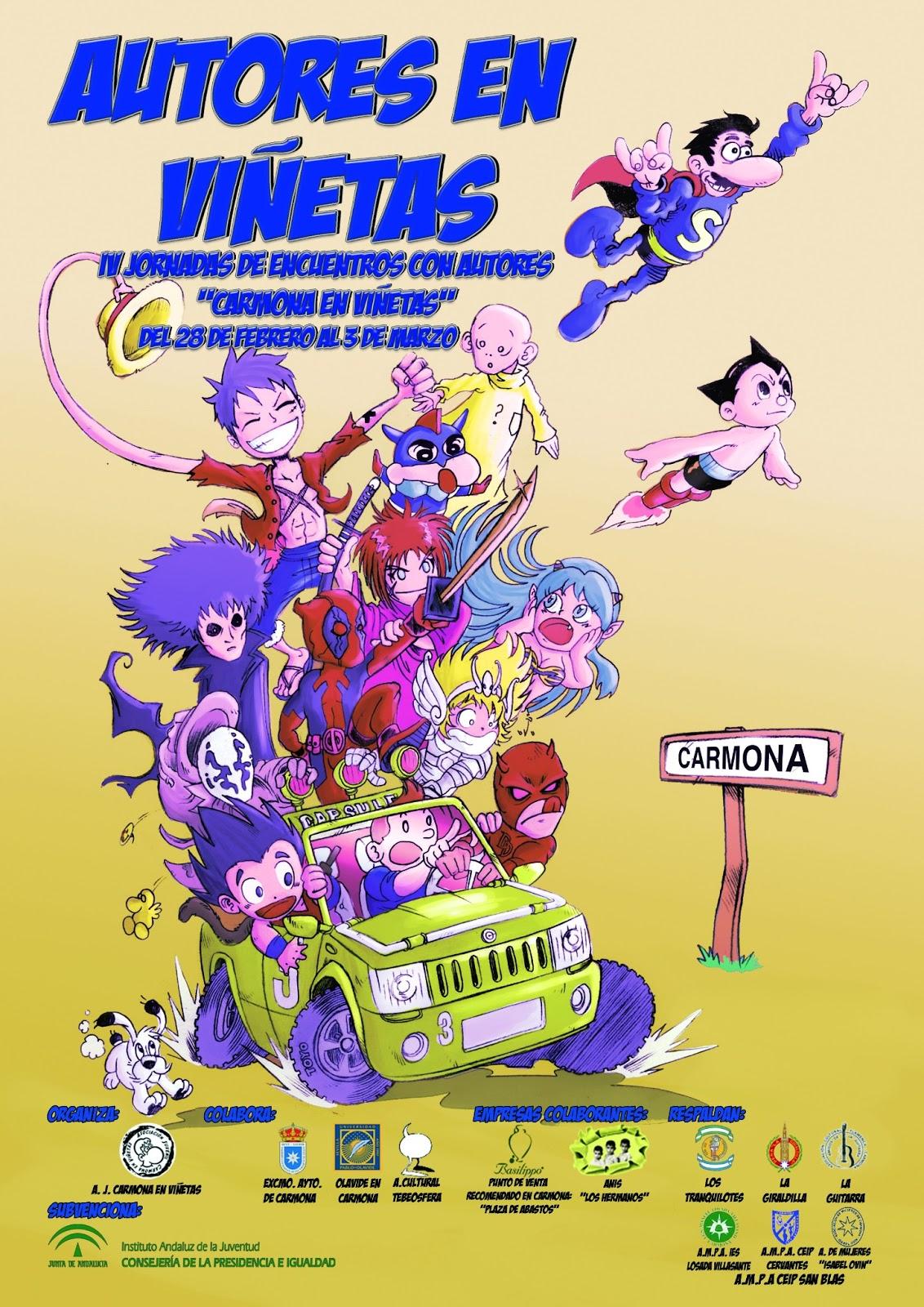 Cartel Autores en Viñetas Carmona 2013