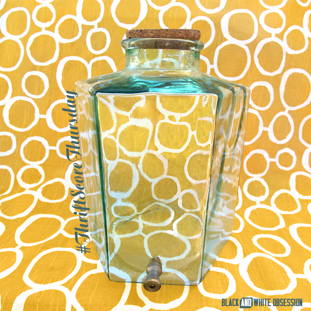 #thriftscorethursday Week 22- Hexagon Beverage Dispenser | www.blackandwhiteobsession.com #hexagon #geometric #beverage_dispenser
