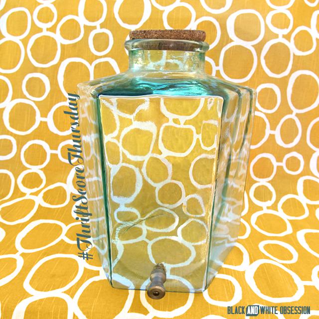 #thriftscorethursday Week 22- Hexagon Beverage Dispenser | www.blackandwhiteobsession.com #hexagon #geometric #beverage_dispenser