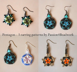 Pentagon Earrings and Rail Road Tracks Bracelet