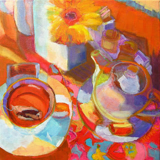 original colorful, vibrant oil painting by Joan Terrell